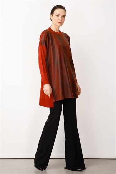 Ghisa Triko Tunik ORANGE